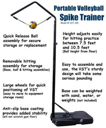 Volleyball Spike Trainer. Model # VST-100 (Complete Portable System)