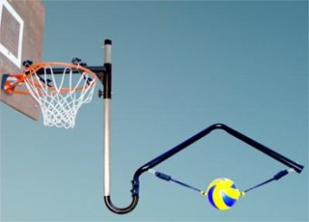 Volleyball Spike Trainer. Model # VST-300 (For fixed height basketball systems)