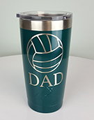 Powder Coated Drink Tumbler: Theme: Volleyball Dad