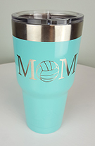Powder Coated Drink Tumbler: Theme: Volleyball Mom II
